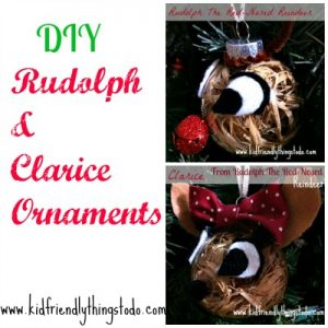 A  DIY Rudulph and Clarice Ornament Craft – Kid Friendly Things To Do .com