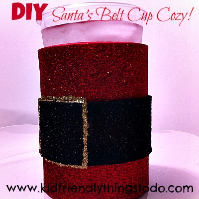 DIY Santa Cup Craft {Cup Cozy} | Kid Friendly Things To Do