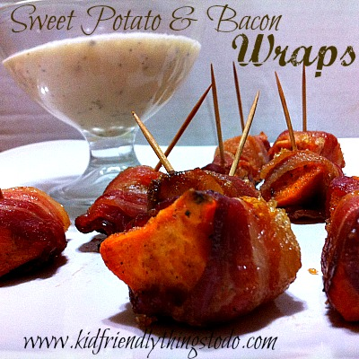 Sweet Potato & Bacon Wraps