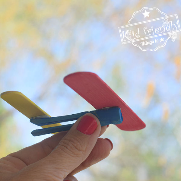 A Simple Craft Stick Airplane Craft – Kid Friendly Things To Do