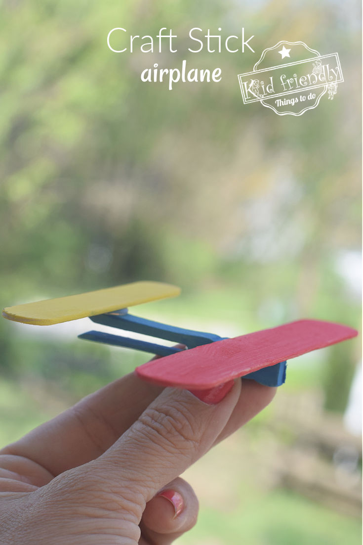 craft stick airplane craft for kids