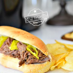 Mom's Recipe for Slow Cooker Italian Beef Sandwiches  | Kid Friendly Things To Do