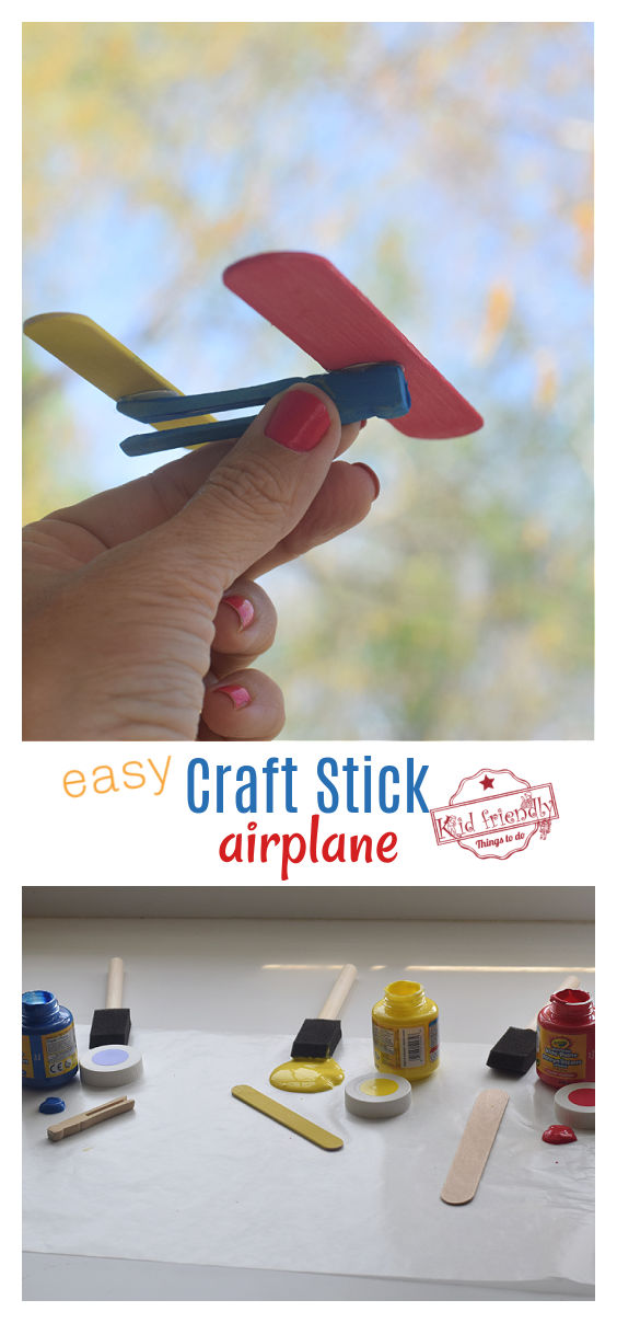 craft stick airplane