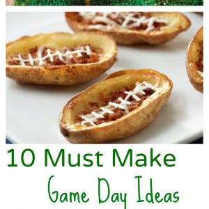Game day football food and drink ideas - KidFriendlyThingsToDo.com