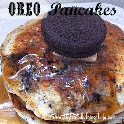 Oreo Cookie Pancakes – Kid Friendly Things To Do