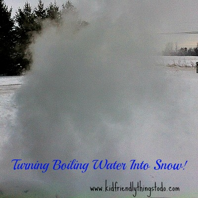 Turning Boiling Water Into Snow {With Colors!}