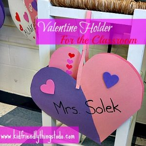 Valentine Holder for school