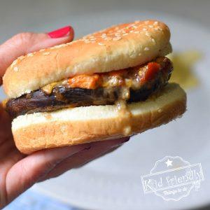 oven baked portobello mushroom burger