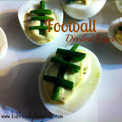 Football Deviled Eggs {So Easy and Delicious!} – Kid Friendly Things To Do