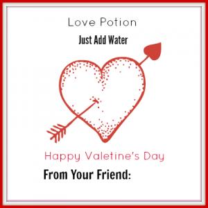 Love Potion Printable – Valentine's Day