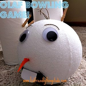 Olaf Bowling Frozen Party Game