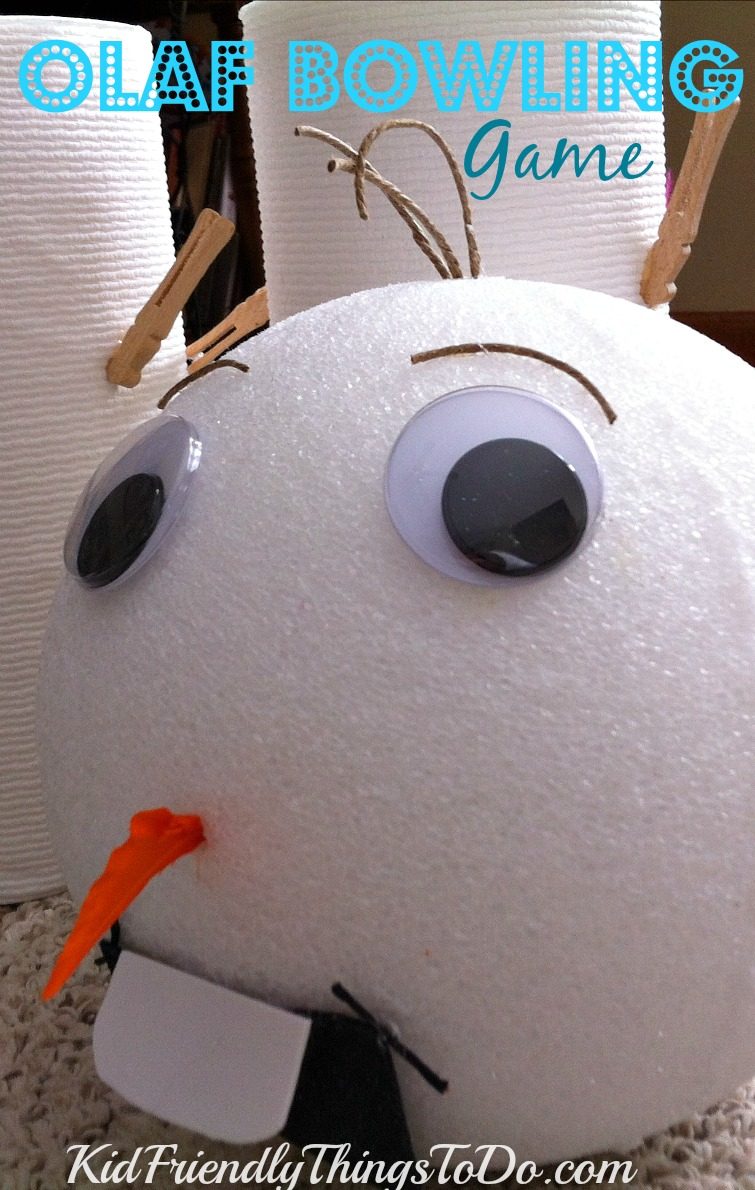 Olaf Bowling Game from KidFriendlyThingsToDo.com - Perfect for classroom holiday parties!
