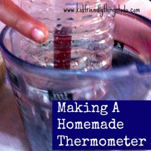 DIY Homemade Thermometer. Cool science project with the kids!