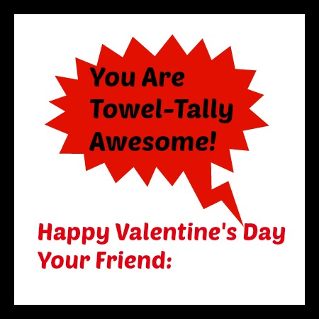 Get a fun Magic Wash Cloth - kids love them, and add this printable! Great Non-Candy Valentine