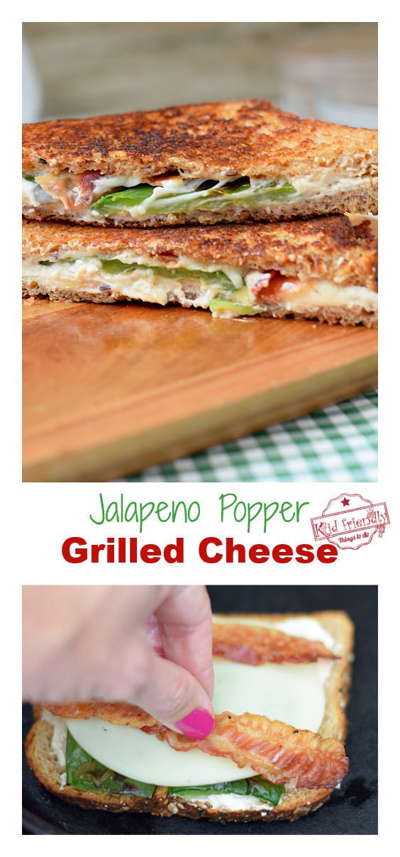 jalapeno and bacon grilled cheese sandwiches