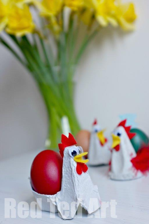 Chickens Out of Egg Cartons! I love it!