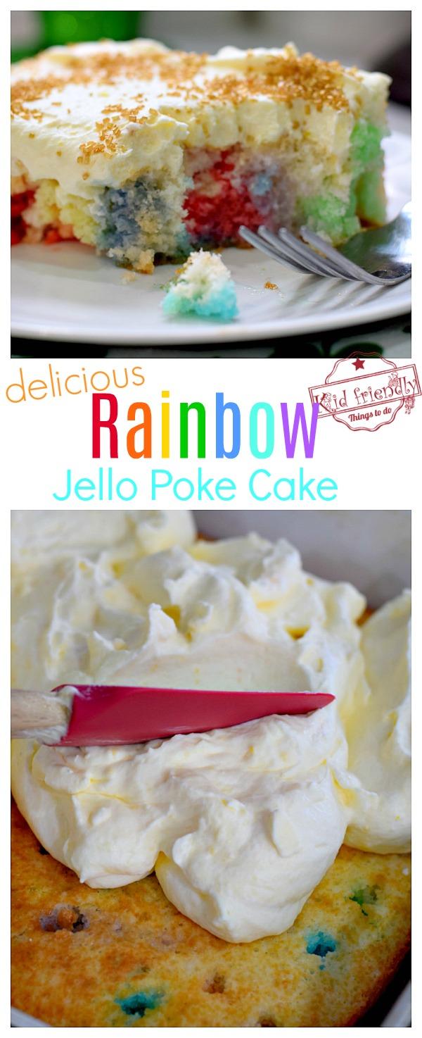 Rainbow dessert