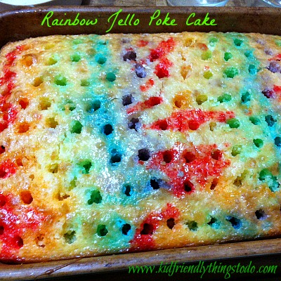 Holiday Jell-O Poke Cake Recipe — Dishmaps