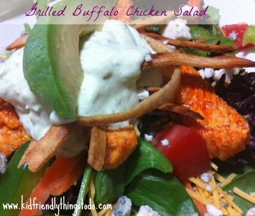 Grilled Buffalo Chicken Salad With Avocado Ranch Dressing – Kid Friendly Things To Do .com