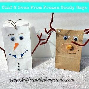 Olaf Goody Bag Craft Idea – Kid Friendly Things To Do .com