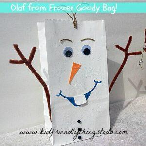 Olaf Paper Bag Craft for kids