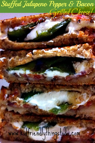 Stuffed Bacon Jalapeno Pepper Grilled Cheese!