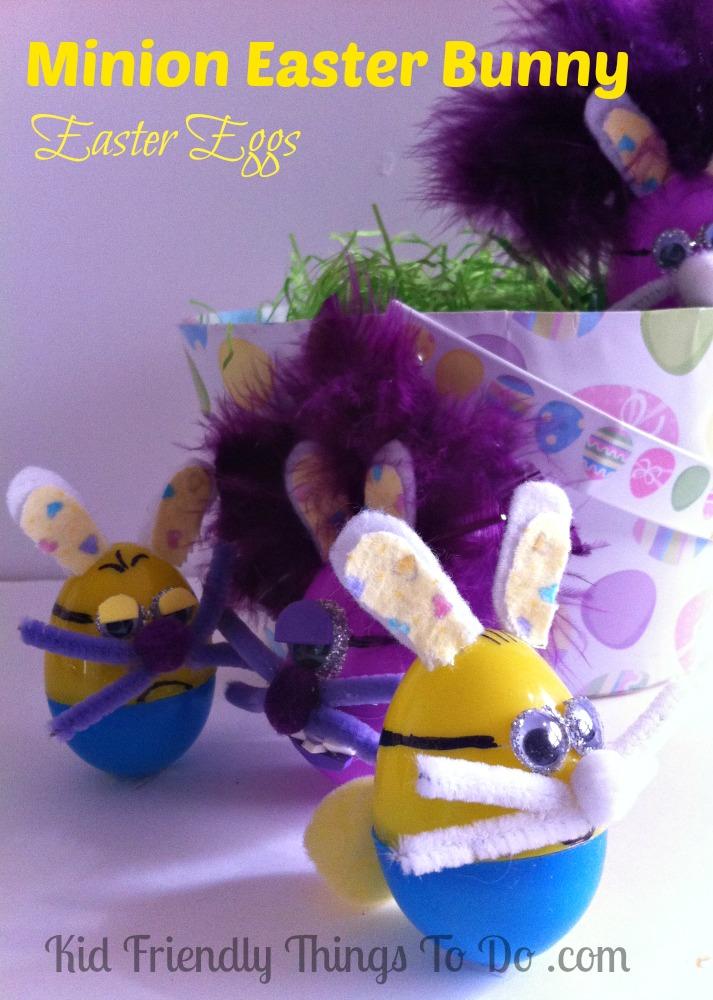 Minion Easter Bunny Plastic Egg Craft