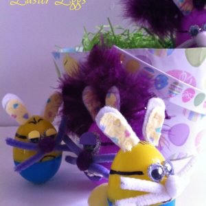 Minion Easter Eggs as Bunnies!