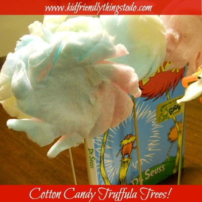 Dr. Seuss Cotton Candy Truffula Trees | Kid Friendly Things To Do