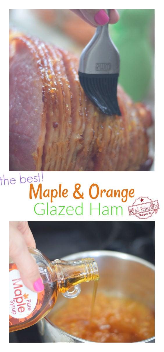 maple and orange glazed ham