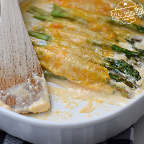 Cheesy Asparagus Casserole {Great Side Dish} | Kid Friendly Things To Do
