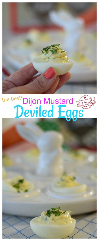 Dijon Mustard Creamy Deviled Eggs