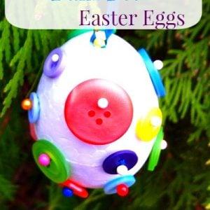 Styrofoam Easter Egg Ornament craft