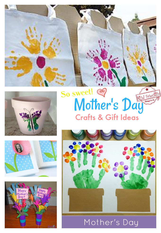 Sweet Mother's Day Crafts for Kids to Make and Gift Ideas
