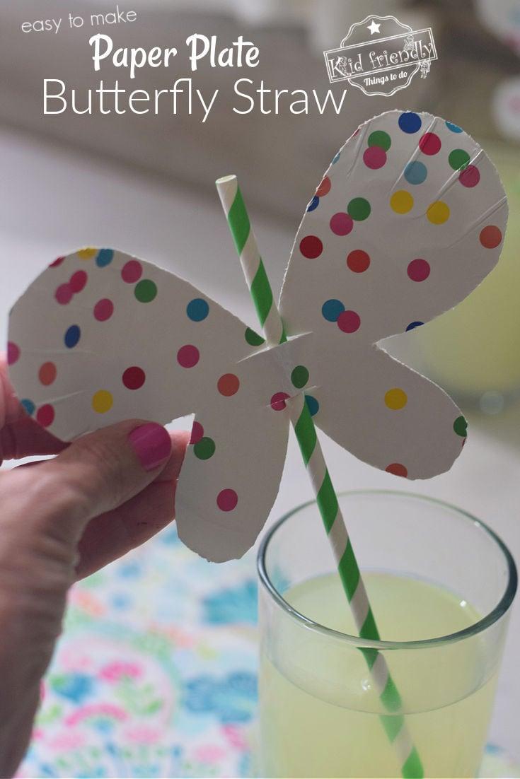 Butterfly Straw Craft