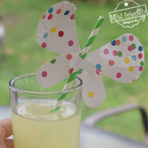 DIY Butterfly Straw Craft {For Fun Summer Drinks} – Kid Friendly Things To Do
