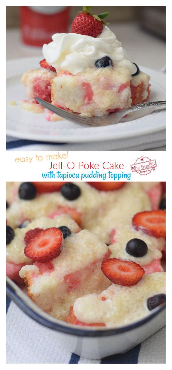 Jell-O Poke Cake with Pudding