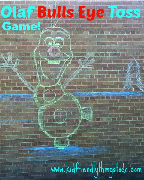 Olaf Bulls Eye Toss Game – Kid Friendly Things To Do .com
