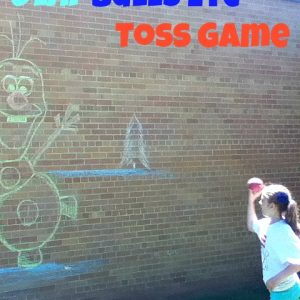 Frozen Party Game - Olaf Bean Bag toss