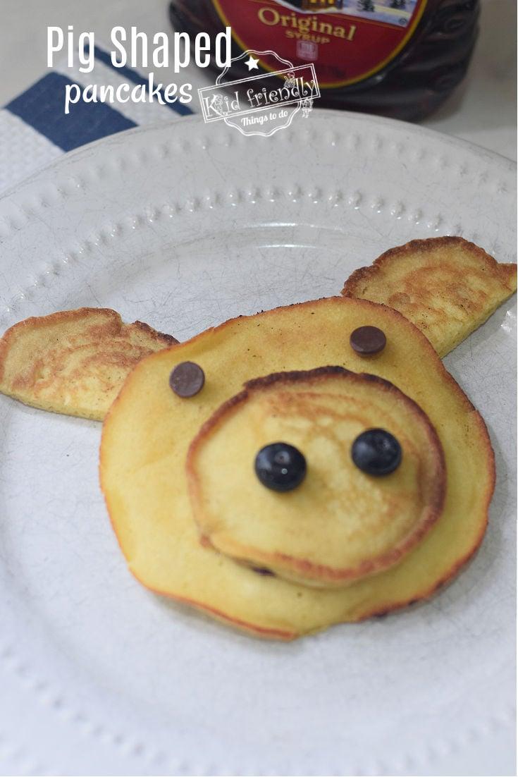 Pig Shaped Pancakes