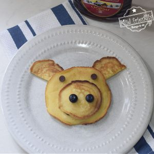 pig shaped pancakes for kids