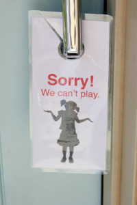 I Can't Play Right Now Sign For Neighborhood Kids – Kid Friendly Things To Do .com