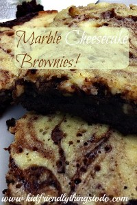 Marbled Cheesecake Brownies – Kid Friendly Things To Do .com