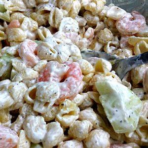 cold shrimp pasta salad