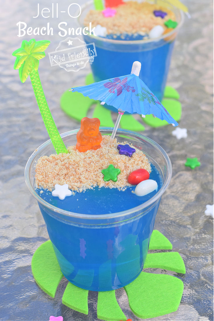 Jell-O beach cup snack for kids