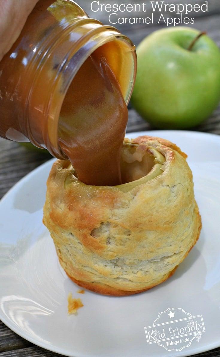 caramel apple in a crescent roll recipe