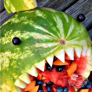 Awesome Shark Fruit Salad for a Shark Themed Party Food Idea