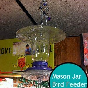 DIY Mason Jar Bird Feeder! So cool!