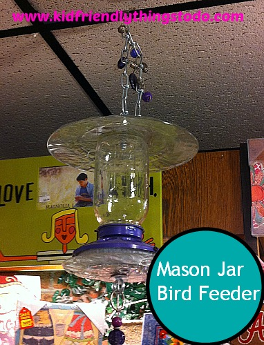 DIY Mason Jar Bird Feeder! So cool!