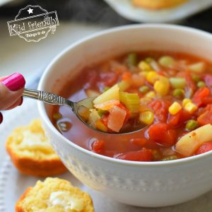 Copycat Cracker Barrel's Vegetable Soup| Kid Friendly Things To Do